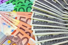 euro wiązka dolary Obraz Stock