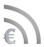 Euro wifi connection Royalty Free Stock Photo