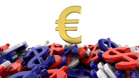 Euro win dollar Royalty Free Stock Photo