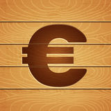 Euro on wooden background Stock Photo