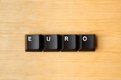 Euro woord Stock Afbeeldingen