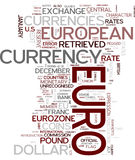 Euro word cloud. Euro gorgeous tag clouds for your design Stock Image