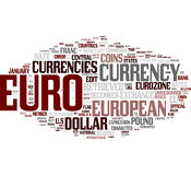 Euro word cloud Stock Photos