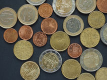 Euro & x28; EUR& x29; muntstukken Stock Foto's