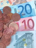 Euro y centavo Foto de archivo