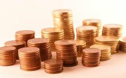 Euro y centavo Fotografía de archivo libre de regalías