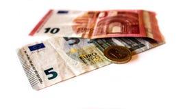 Euro y monedas, dinero foto de archivo libre de regalías
