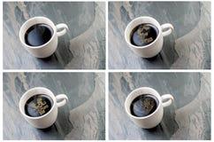 Euro, Yen, connexion d'amour par tasse de café chaud Images libres de droits