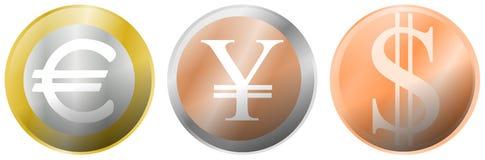 Euro yen dollar image Stock Photo