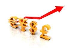Euro yen dollar and pound Royalty Free Stock Images