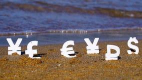 Euro-, yen- och dollarsymboler Fotografering för Bildbyråer