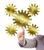 Euro, Yuan Or Yen, Pfund, Schweizer Franc And Dollar Lizenzfreie Stockfotos