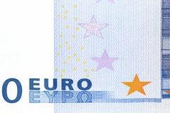 Euro zéro de billet de banque Photographie stock libre de droits