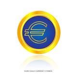 Euro złocisty symbol Zdjęcia Stock