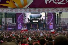 Euro zabawy 2012 strefa w Warszawa Zdjęcia Stock