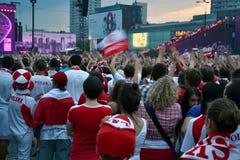 Euro zabawy 2012 strefa w Warszawa Fotografia Royalty Free