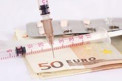 Euro zastrzyk Fotografia Royalty Free