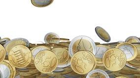 Euro zerrissen zur Hälfte gegen alten Hintergrund stock footage