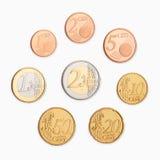 Euro zerrissen zur Hälfte gegen alten Hintergrund Stockbild