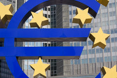 Euro Znak Fotografia Stock