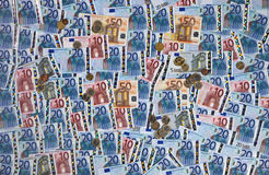 Euro Zone - Cash - Background Stock Photos
