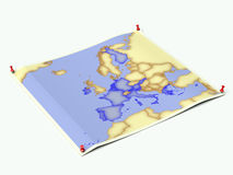 Euro-Zone on unfolded map sheet Royalty Free Stock Photography