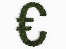 euro zrobił realistycznych szyldowych drzewa różnorodny Fotografia Royalty Free