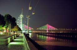 Euro2004 Portugese kleuren in Expo, Lissabon Royalty-vrije Stock Foto
