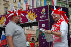 Euro2012 - football fans Stock Photography