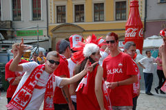 Euro2012 - football fans Royalty Free Stock Photo