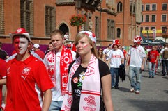 Euro2012 - football fans Royalty Free Stock Images