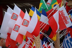 Euro2012 - Polish flags Royalty Free Stock Photo