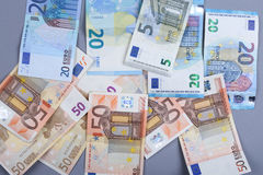 Euroachtergrond Royalty-vrije Stock Afbeelding