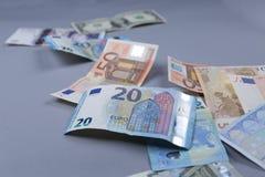 Euroachtergrond Stock Afbeelding