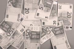 Euroachtergrond Stock Foto's
