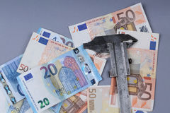 Euroachtergrond Royalty-vrije Stock Foto's