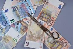 Euroachtergrond Stock Afbeeldingen