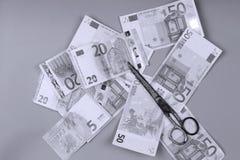 Euroachtergrond Royalty-vrije Stock Afbeeldingen