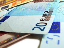 euroanmärkning Royaltyfri Bild