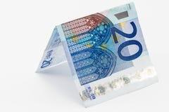 Euroanmärkning för singel tjugo Arkivfoton