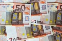 Euroanmärkningar som bildar bakgrund Royaltyfri Bild
