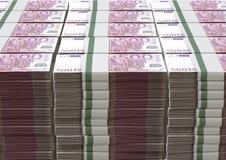 Euroanmärkningshög Arkivfoton