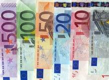 Euroanmerkung stockfoto