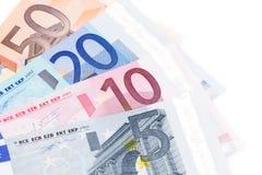 Euroanmerkungen Stockfoto