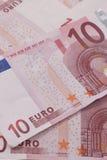 Euroanmerkungen in einem Stapel Lizenzfreies Stockbild