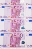Euroanmerkungen mit Reflexion Lizenzfreie Stockfotos