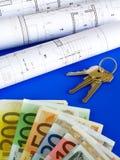 EUROanmerkungen und Pläne Stockfoto
