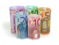 euroanmärkningar Arkivfoton