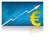 Euroaustausch/Vektor Lizenzfreies Stockfoto