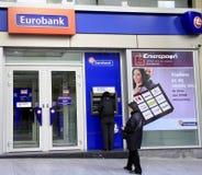 eurobank Royaltyfri Fotografi